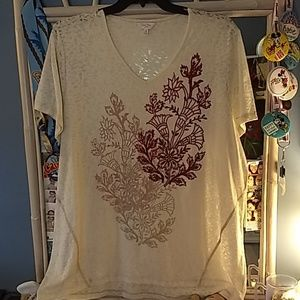 Fun Graphic Tee from Coral Bay sz2X